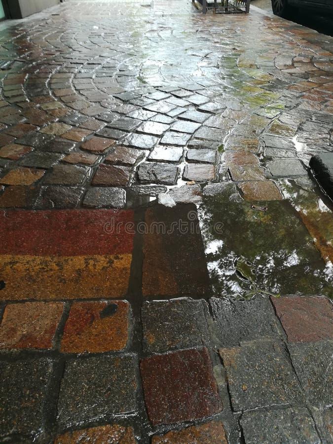 Piso de la calle imagen de archivo
