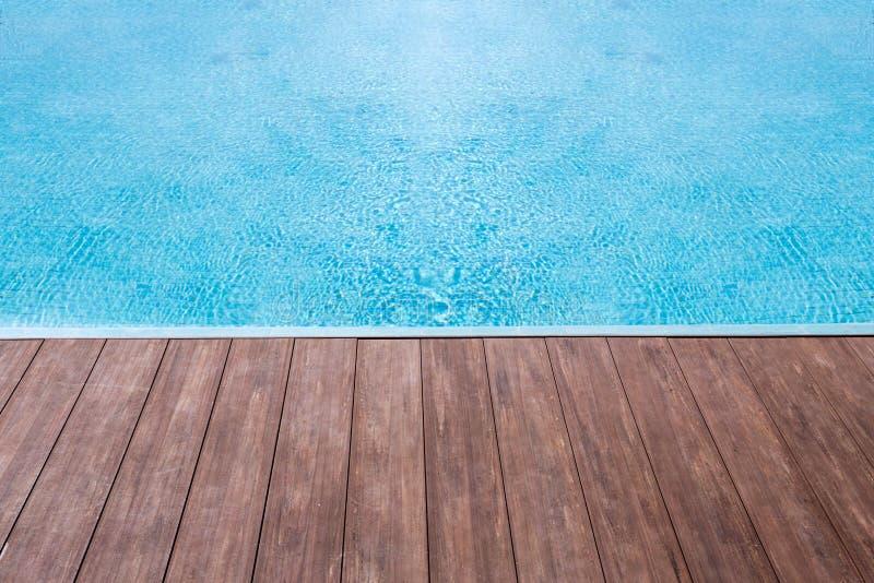 piso de madera del agua de la textura foto de archivo libre de regalías