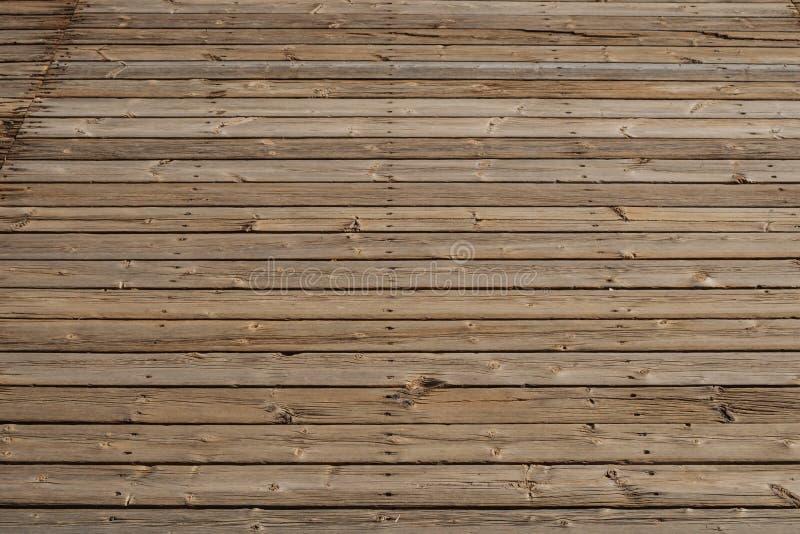 Piso de madera, piso de madera de la terraza de los tablones del vintage foto de archivo libre de regalías