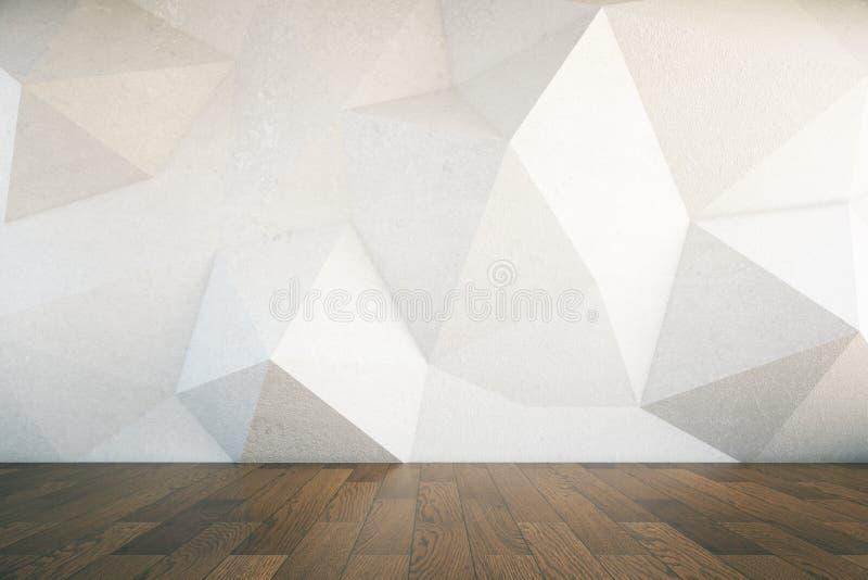 Piso de madera oscuro de la pared abstracta libre illustration