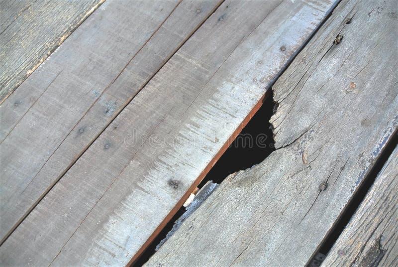 Piso de madera quebrado del tablón foto de archivo libre de regalías