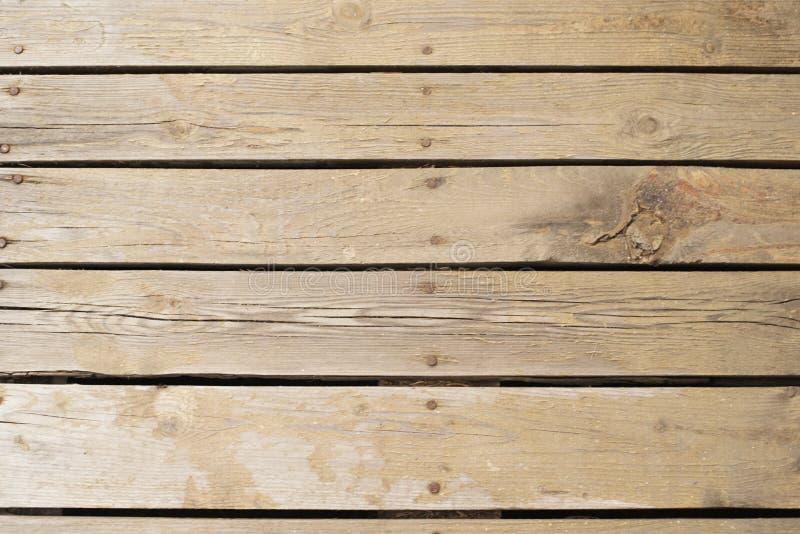 Piso de madera real puesto así como clavos La manera tocamos la naturaleza fácilmente Viejo fondo de madera, textura fotografía de archivo