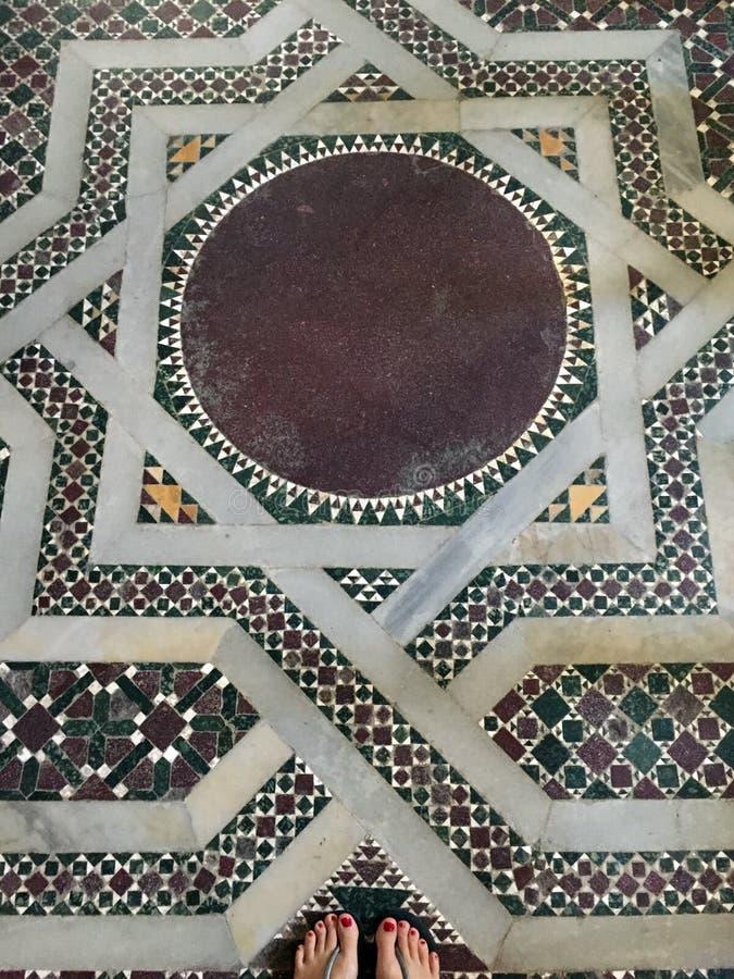 Piso de mosaico bizantino imagen de archivo libre de regalías