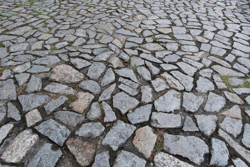 Piso De Piedra Del Adoqu N En La Acera Imagen De Archivo
