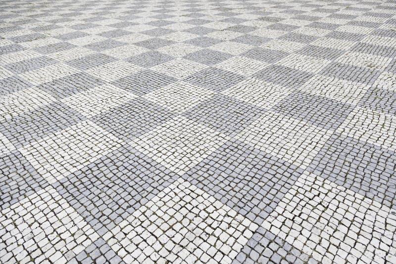 Piso de piedra típico de Lisboa imagen de archivo libre de regalías
