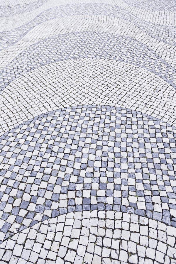 Piso de piedra típico de Lisboa fotografía de archivo libre de regalías