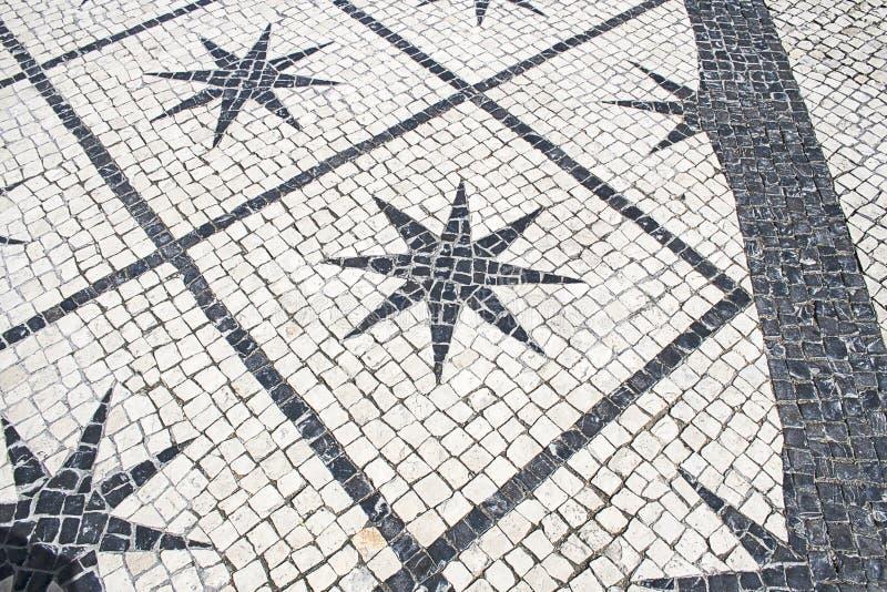 Piso de piedra típico Lisboa imagen de archivo libre de regalías