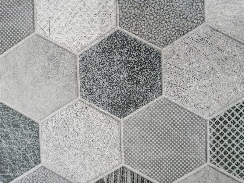 Piso de tejas abstracto hermoso de la textura y fondo y papel pintado blancos y negros del modelo del color de la placa de la roc imágenes de archivo libres de regalías