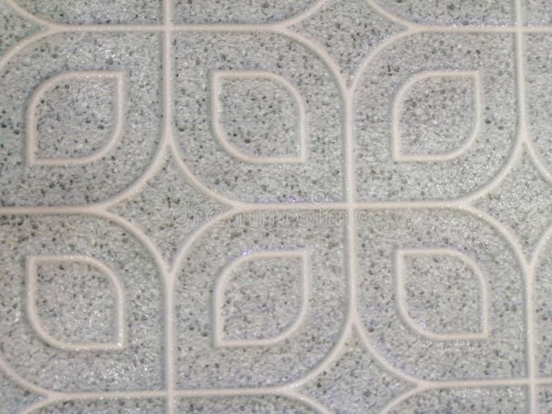 Piso de tejas abstracto hermoso de la textura y fondo y papel pintado blancos y negros del modelo del color de la placa de la roc fotografía de archivo