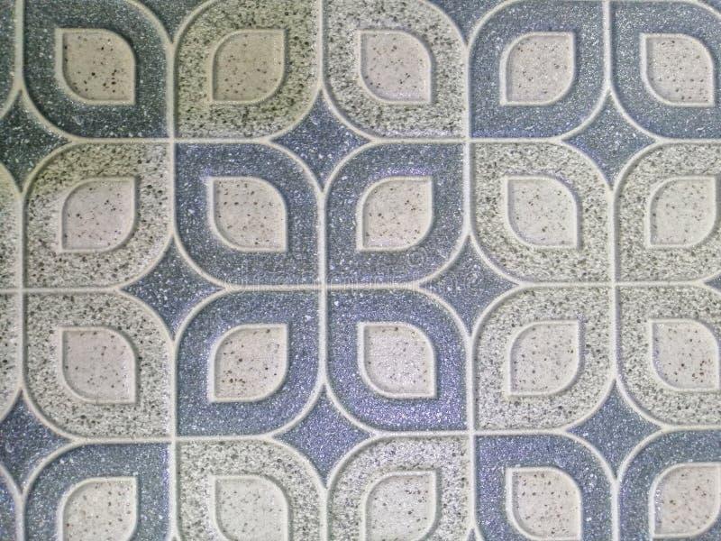 Piso de tejas abstracto hermoso de la textura y fondo y papel pintado blancos y negros del modelo del color de la placa de la roc imagen de archivo libre de regalías