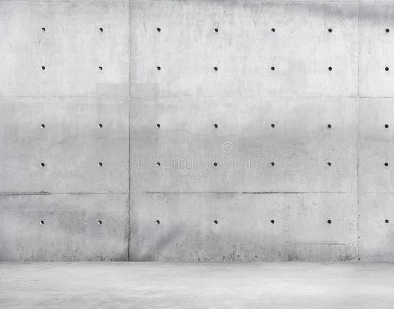 Piso del muro de cemento y del cemento para el espacio de la copia fotografía de archivo libre de regalías