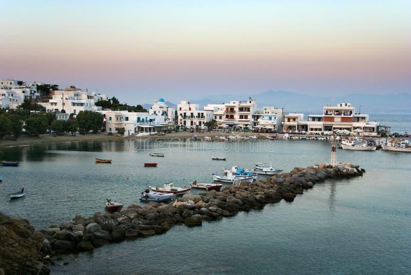 Piso Livadi, Greek fishing village royalty free stock photography