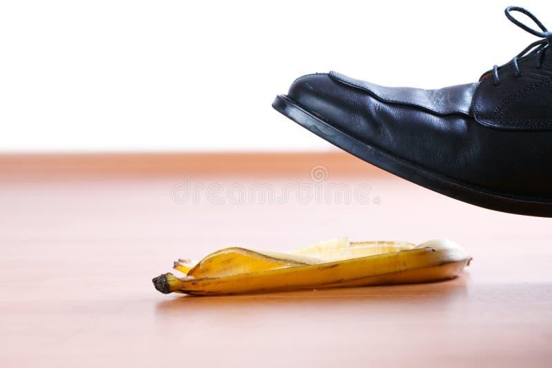 Piso na casca da banana fotos de stock