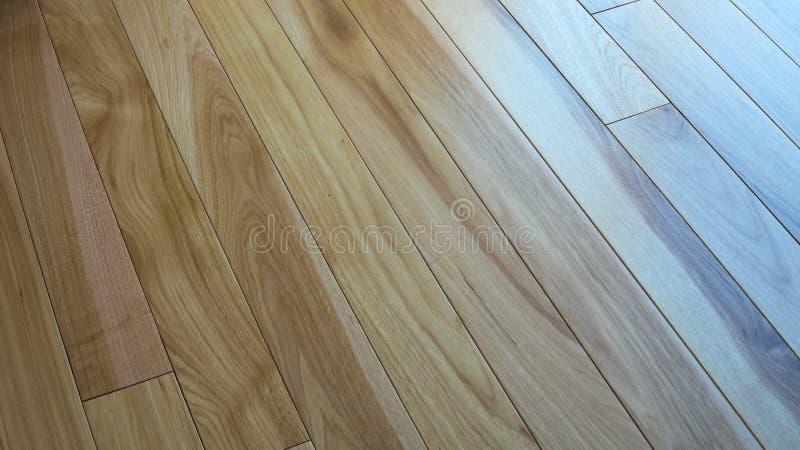 Piso natural de madera de la nuez dura para el fondo de la textura imagen de archivo libre de regalías