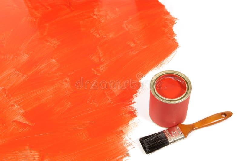 Piso rojo en parte pintado fotos de archivo libres de regalías