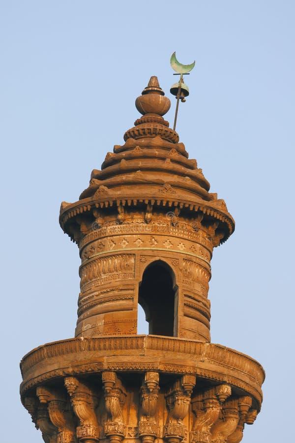 Piso superior de la torre histórica antigua del oscilación, Ahmadabad, gujrat, la India imagen de archivo libre de regalías