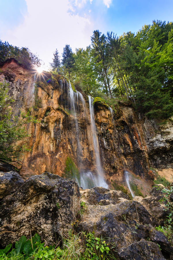 Free Pisoaia Waterfall 3 Royalty Free Stock Image - 45195296