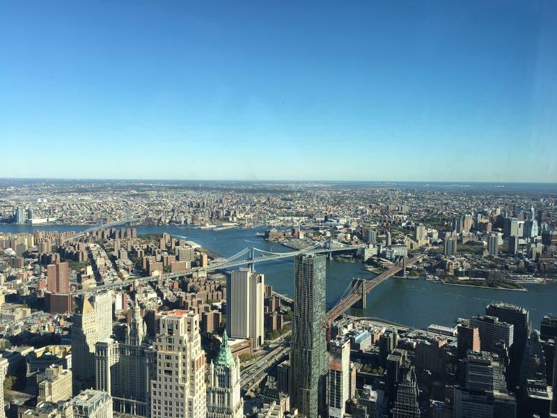 Pisos de la opinión panorámica 102 de NYC altos fotografía de archivo