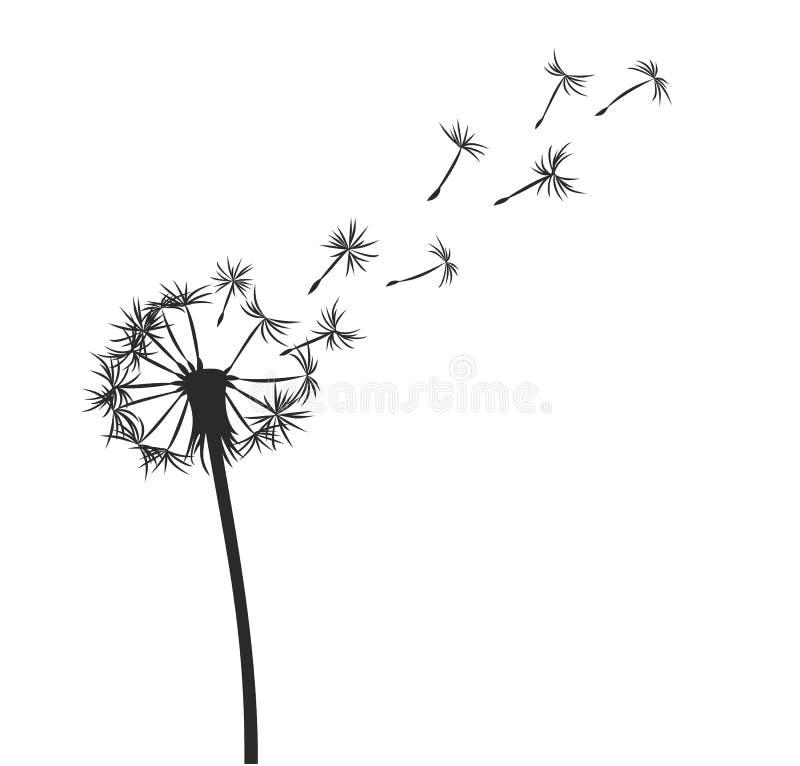 Pissenlit illustration stock illustration du logo - Dessin fleur pissenlit ...