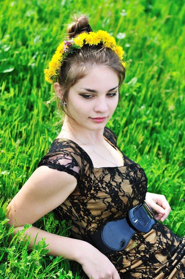 Pissenlit de source de l'adolescence photo libre de droits