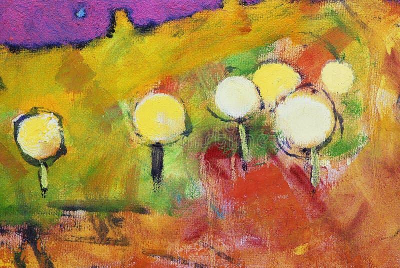 Pissenlits colorés. photographie stock libre de droits