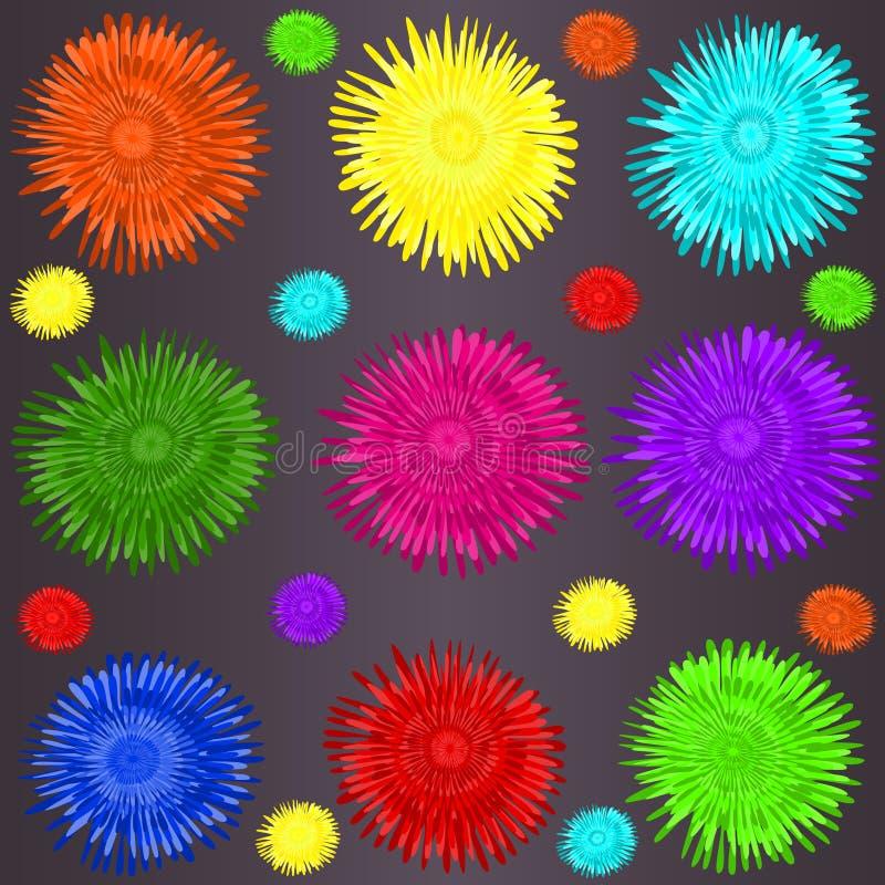 Pissenlits colorés illustration stock