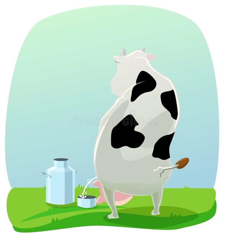 Pissing la vaca ilustración del vector