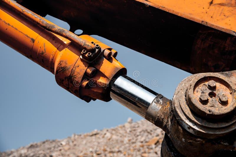 Pistão pneumático para tecnologia de máquinas Máquina de fixação para elevação da carga e das forças hidráulicas imagem de stock