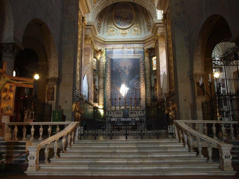 Pistóia - interior del Duomo fotografía de archivo libre de regalías