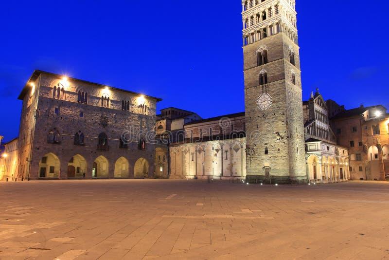 Pistóia - Piazza del Duomo foto de archivo libre de regalías
