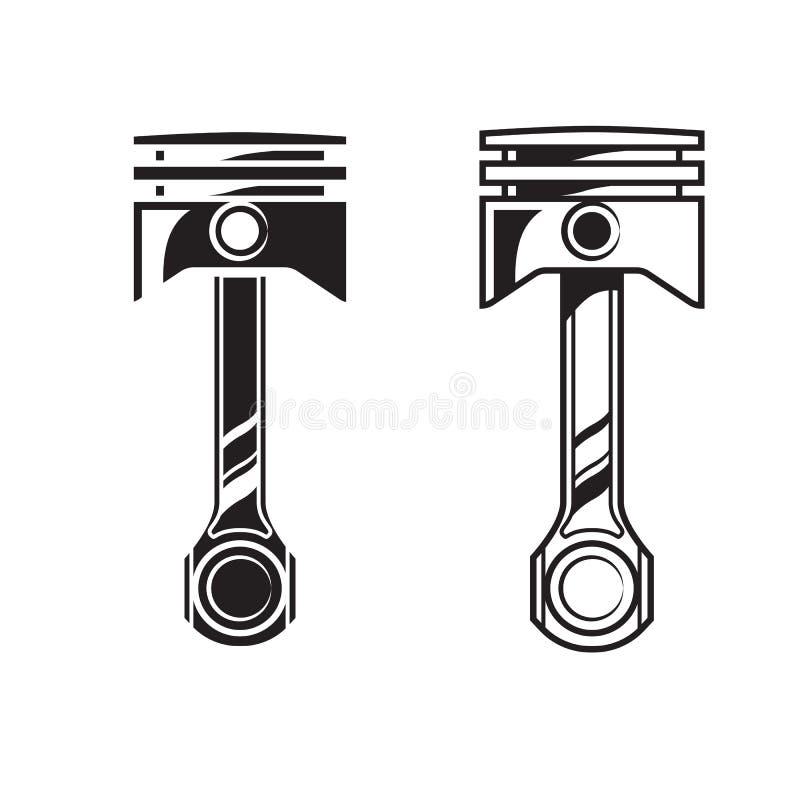 Pistón del motor de coche del vector stock de ilustración