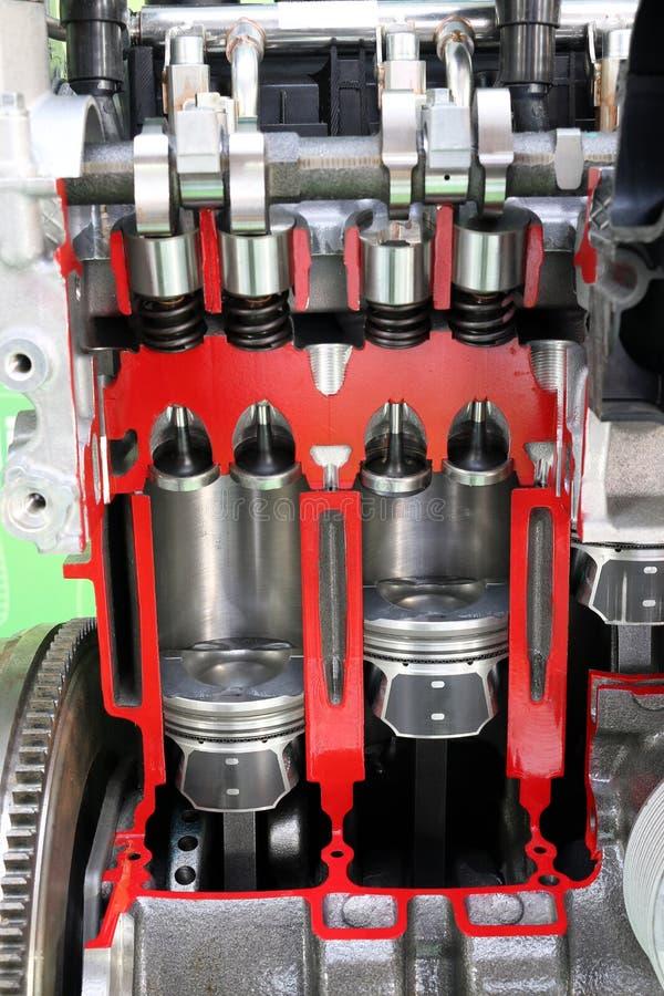 Pistões e motor de automóveis das válvulas fotos de stock