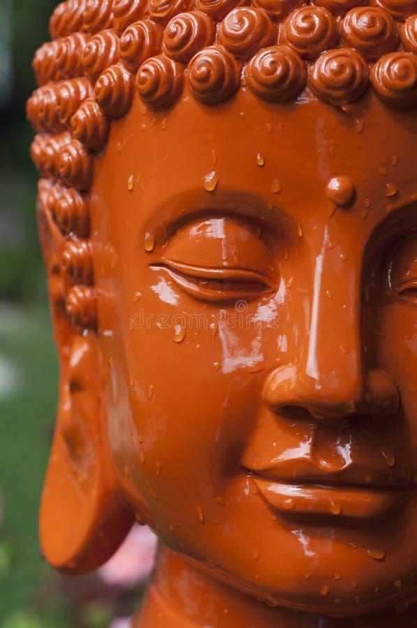 Pista anaranjada de Buddha fotos de archivo libres de regalías