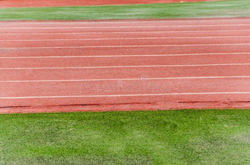 Pista atletica fotografie stock libere da diritti