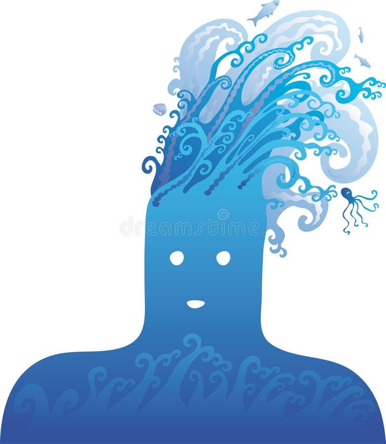 Pista azul ilustración del vector