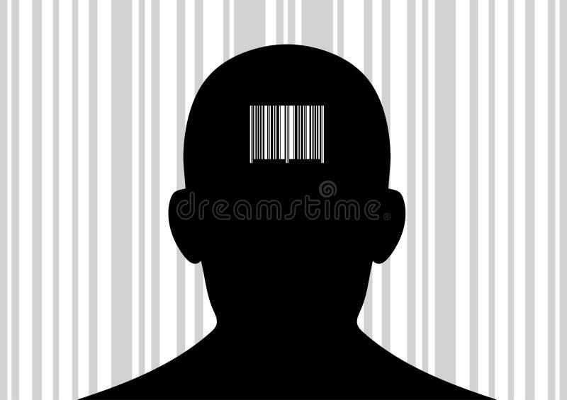 Download Pista Con El Código De Barras En Su Parte Posterior. Ilustración del Vector - Ilustración de retail, concepto: 7275250
