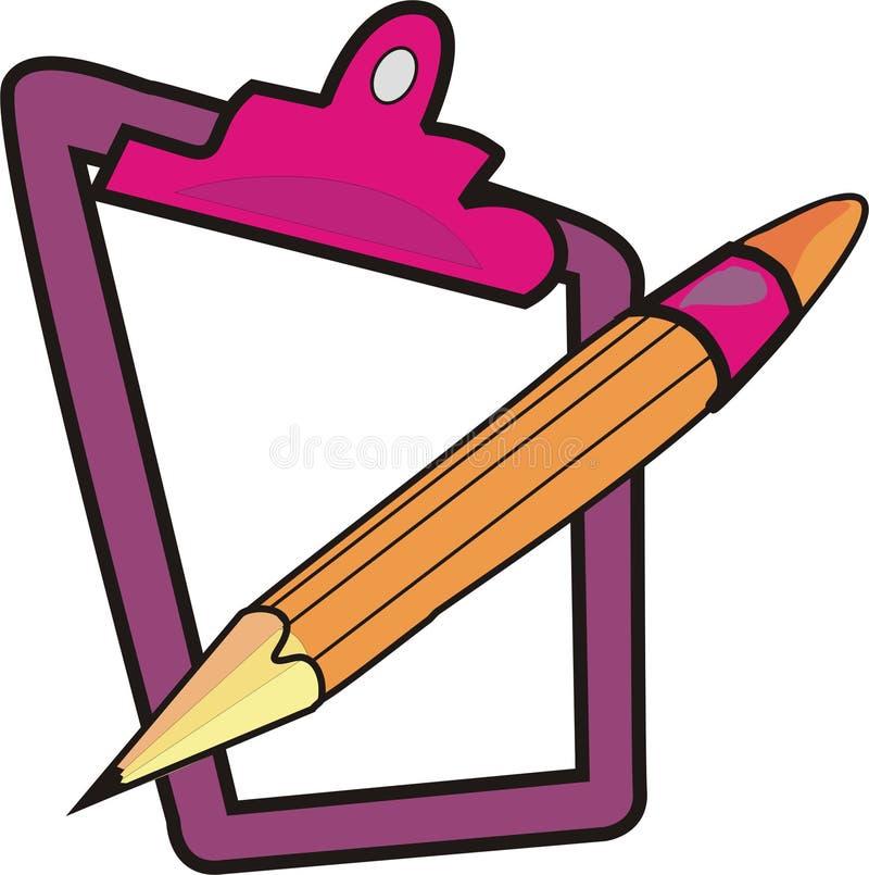 Pista con el lápiz ilustración del vector
