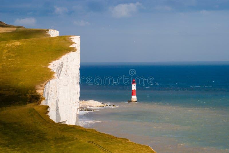 Pista con playas del azul de la tapa del acantilado imagen de archivo