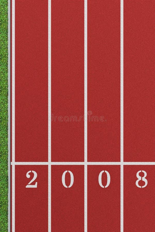 Pista corrente 2008 illustrazione vettoriale