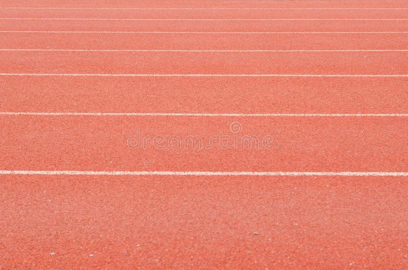 Pista corrente dello stadio di atletica fotografie stock libere da diritti