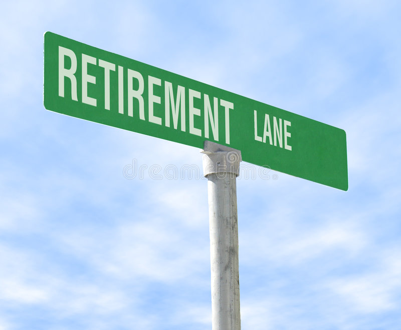 Pista da aposentadoria imagens de stock royalty free