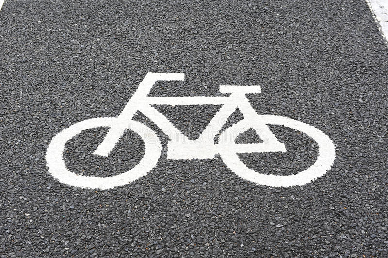 Pista da bicicleta imagens de stock royalty free