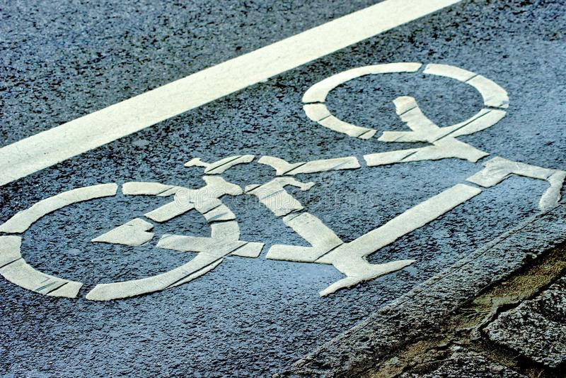 Pista da bicicleta fotografia de stock