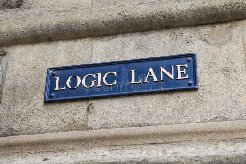 Pista da lógica em Oxford foto de stock royalty free