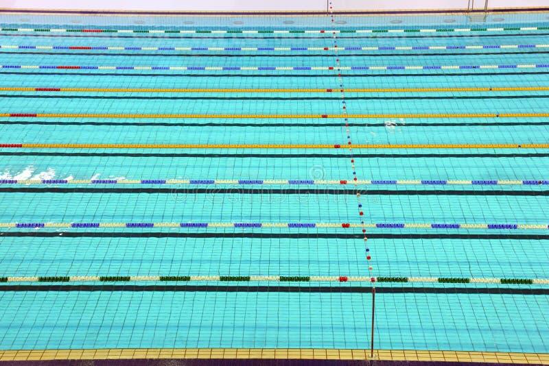 Pista da piscina imagens de stock