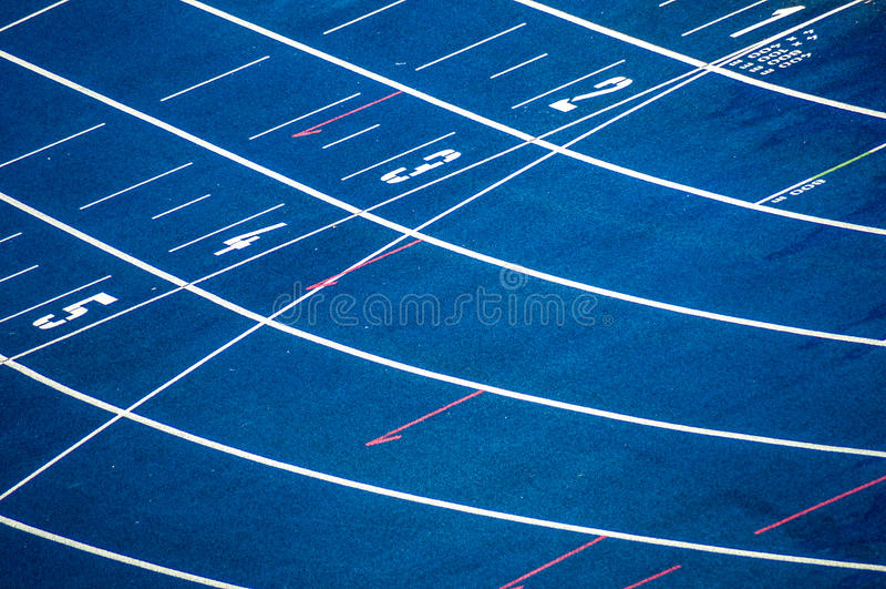 Pista de atletismo foto de stock