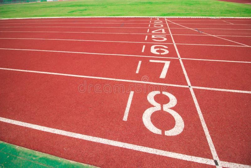 Pista de atletismo com número imagem de stock royalty free