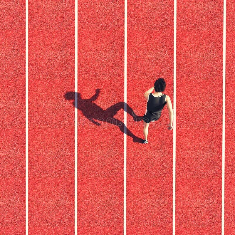 pista de atletismo do atleta