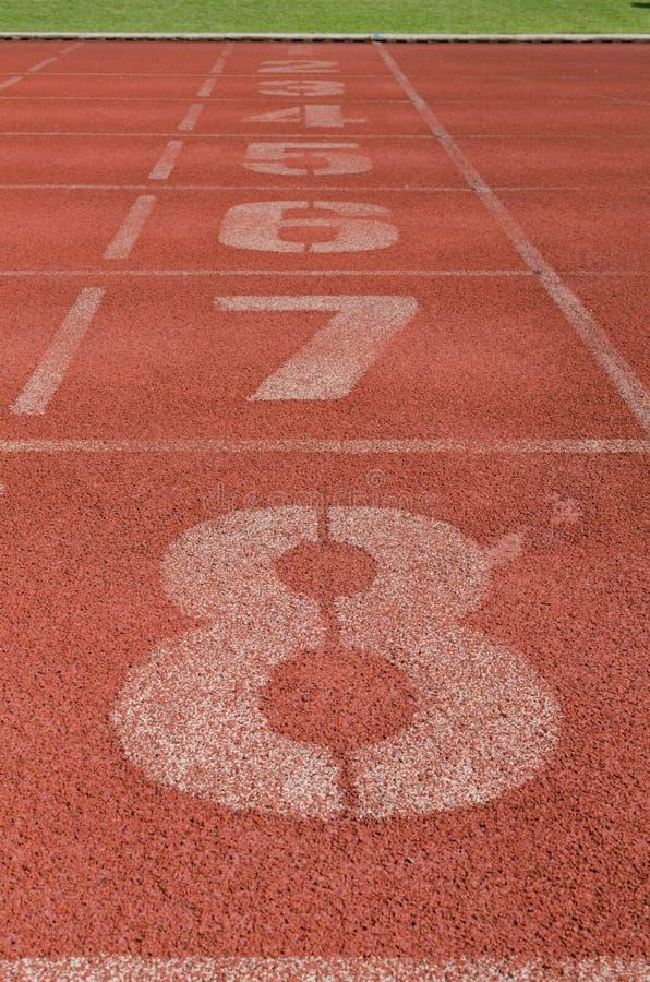 Pista de atletismo nova imagem de stock