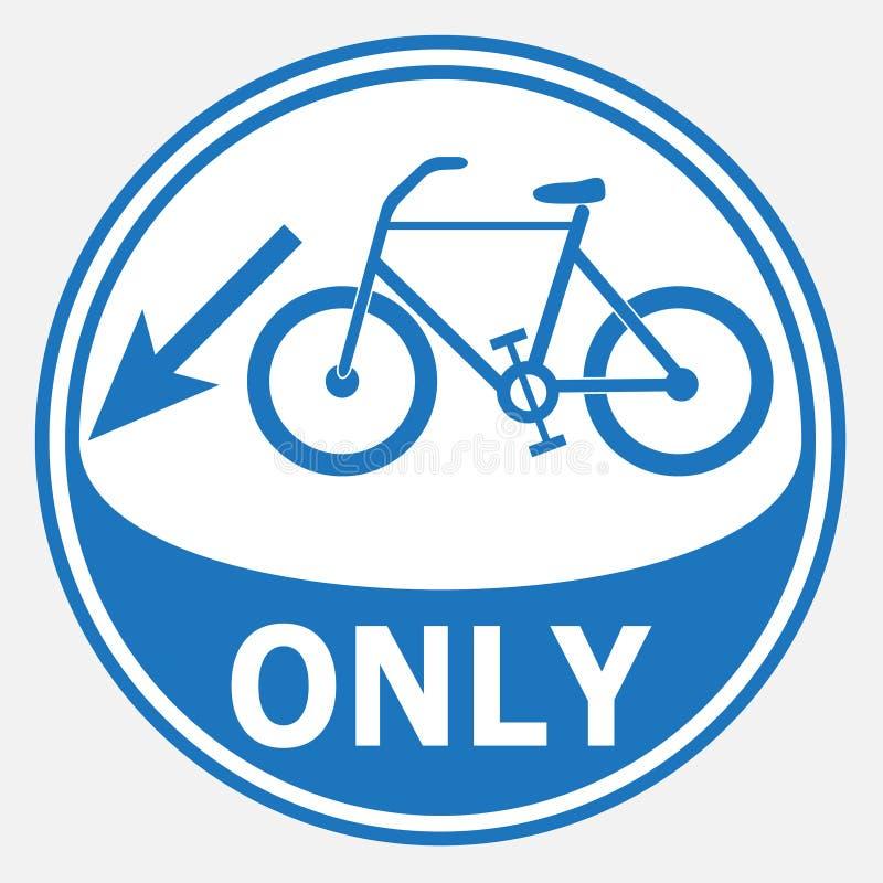 Pista de bicicleta e sinal redondo do quadro ilustração do vetor